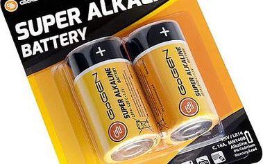 Baterie alkalická GoGEN C, LR14, blistr 2ks (GOGR14ALKALINE2) černá/oranžová
