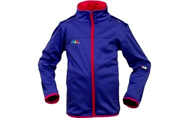 G-mini Dívčí fialová softshellová bunda Maxo, 128 cm