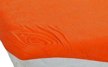 BedTex froté prostěradlo oranžová, 180 x 200 cm