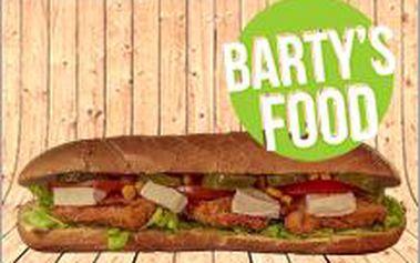 Menu v oblíbeném BARTY'S FOOD za 79 Kč! Dejte si malou bagetu dle výběru a k tomu jakoukoliv přílohu!