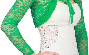 Elegantní krajkové bolerko zelená