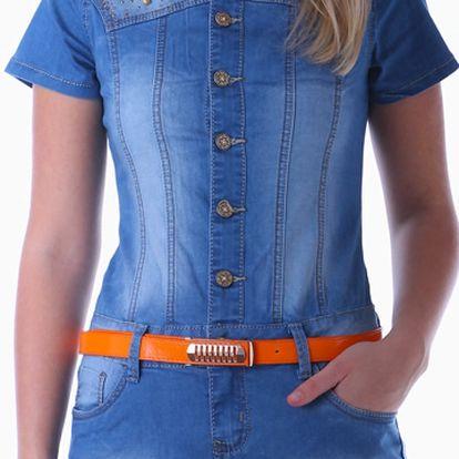 Extravagantní dámské džínové šaty