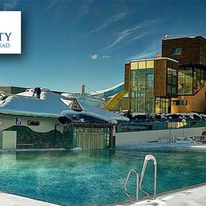 Celodenní relax v Aquaparku AquaCity Poprad nebo největším wellness centru Fire & Water Wellness & Spa