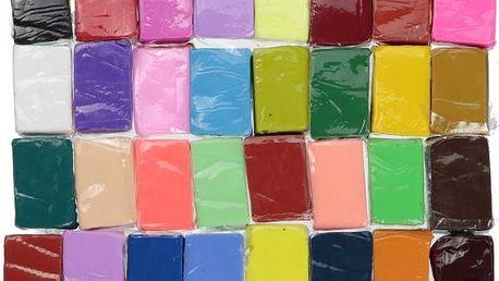 32 kusů polymerové hmoty - velká sada - skladovka - poštovné zdarma