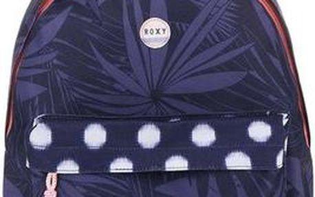 Modrý batoh s růžovým zipem Roxy Be Young