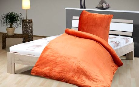 Jahu Ložní povlečení mikrovlákno 140x200 cm/70x90 cm, Oranžová