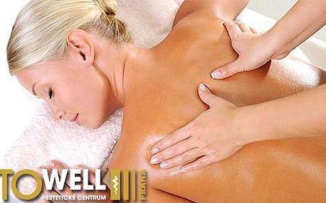 50% sleva na regenerační a relaxační masáž zad a šíje (30 minut)