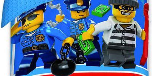 LEGO Dětské povlečení City, 140x200 cm, Barevná