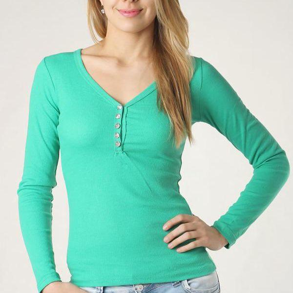Tričko s nápisem na zádech zelená
