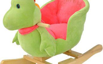 BabyGO Houpací křeslo - dinosaurus s nosností až 20kg