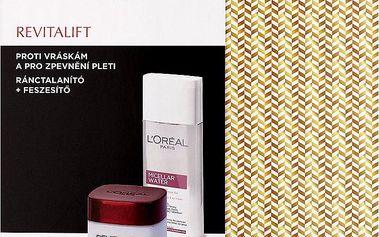 Dárková sada L'Oréal Paris Revitalift denní krém + micelární voda 50 ml + 200 ml