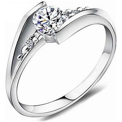 Prsten ve stříbrné barvě s kamínky