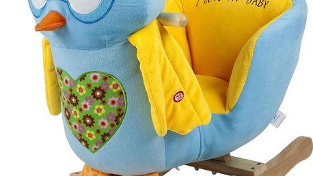 BabyGO Houpací křeslo - sova modrá