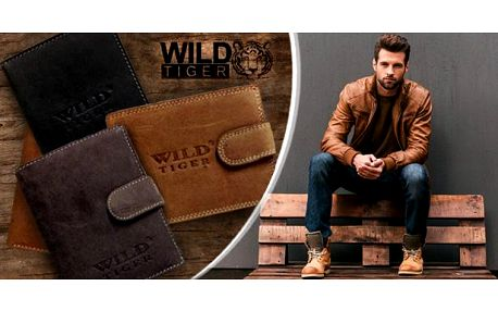 Pánská peněženka Wild Tiger z pravé kůže. Na výběr paleta barev i typových provedení. Pošta zdarma.