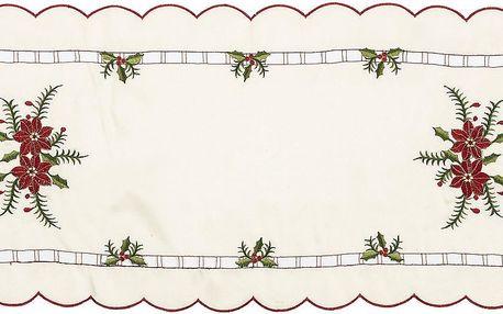 Jahu Vánoční ubrusový běhoun Cesmína, 37 x 86 cm