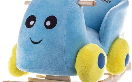 BabyGO Houpací křeslo - autíčko z březového dřeva se zvukovým modelem
