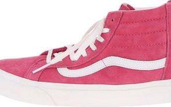 Růžové dámské kotníkové tenisky Vans SK8-HI