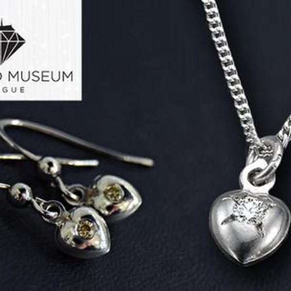 Stříbrné šperky s pravým briliantem z izraelské továrny