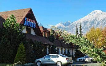 3–6denní pobyt pro 2 osoby s polopenzí v hotelu Autis*** ve Vysokých Tatrách