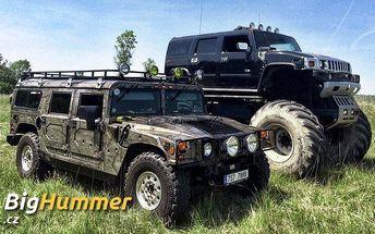 30 minut řízení v Hummeru H1 nebo Monster trucku na off-road dráze v Milovicích