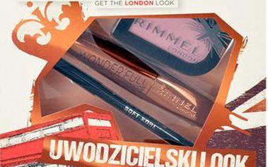 Rimmel London Wonder Full Mascara Kit dárková sada W - 11ml Wonder Full Mascara + 3,5g Magnif Eyes Mono Eye Shadow 006 Poser + 1,2g Soft Kohl Kajal Eye Liner Pencil 061 Jet Black - Odstín 001 Black