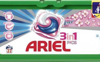 Ariel Active gel Touch of Lenor fresh 32 ks kapsle na bílé i barevné prádlo s aviváží