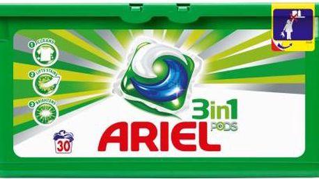 Ariel 3in1 Mountain spring 30 kapslí na bílé prádlo