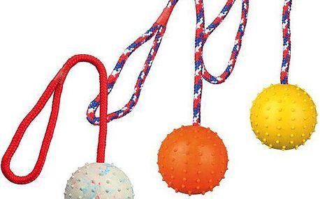 Vrhací míč hrbolatý na šňůře 7cm/30cm