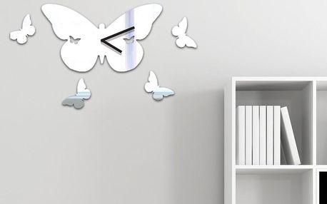 Zrcadlové hodiny Butterfly Clock