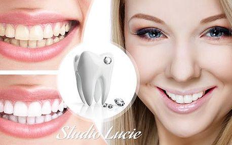 Bělení zubů s bělícím systémem White Pearl a přístrojem Led Dente Biano Profi + možnost ozdobného kamínku Swarowsky!