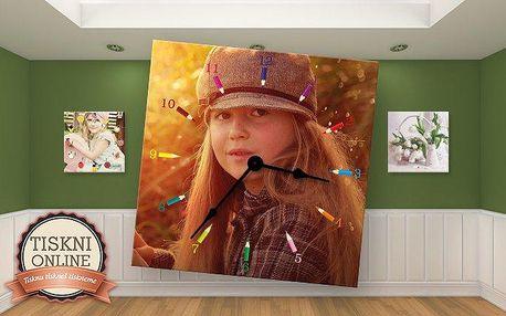 Nástěnné hodiny s vaší fotografií pro oživení interiéru ve 3 rozměrech
