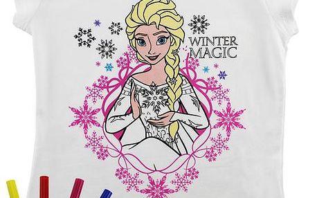 ReDraw Dívčí kreativní tričko Frozen, 116 , Barevná
