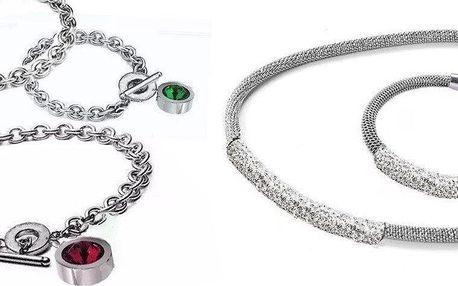 Sada krásných šperků z chirurgické oceli