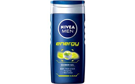 Nivea Men Energy Shower Gel 500ml Pánská tělová kosmetika M Sprchový gel na tělo, tvář a vlasy