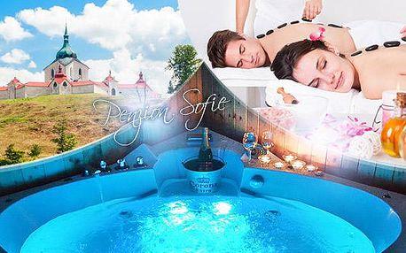 Vysočina s wellness na 3 až 5 dní pro 2 osoby, v ceně polopenze, vířivka, sauna a masáž! Nedaleko aquapark!