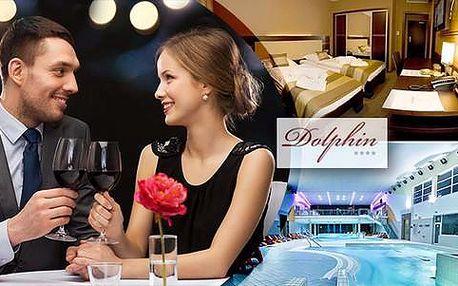 Last Minute: Valentýn v hotelu Dolphin**** se vstupem do Aquaparku Senec