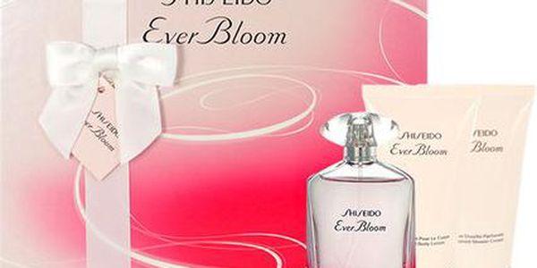 Shiseido Ever Bloom EDP dárková sada W - Edp 50ml + 50ml sprchový krém + 50ml tělové mléko