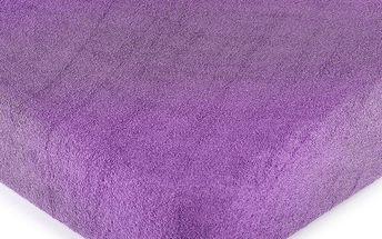 4Home froté prostěradlo fialová, 180 x 200 cm