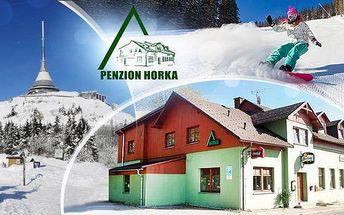 Severní Čechy - Ještěd pro 2 nebo 3 osoby až na 7 dní. Polopenze, welcome drink a šipky či stolní fotbálek.