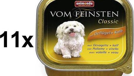 Paštika Animonda Vom Feinsten Classic drůbeží + telecí 11 x 150g