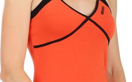 Sportovní tílko s kontrastními ramínky oranžová