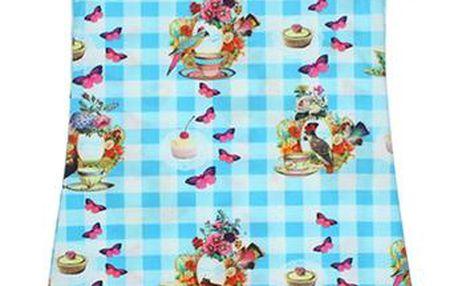 Dutch Heroes Kostkované šaty s motýly, 128 cm