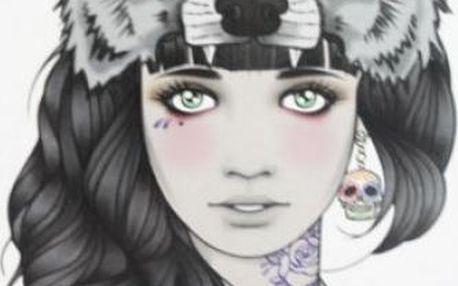 Tetování Girl with wolf