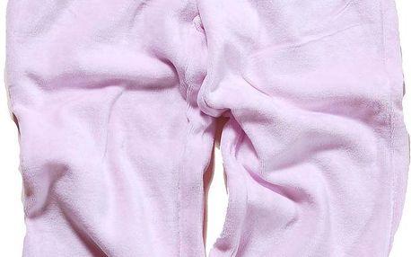 Bugga Dívčí sametové tepláky - světle růžové, 110 cm