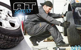 Výměna pneumatik nebo celých kol s plechovými či ALU disky 13 - 18 včetně dofoukání nebo vyvážení.