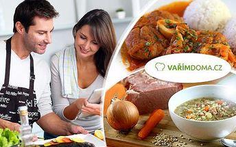 Veškeré suroviny a recept na vámi vybrané jídlo z nabídky Vařímdoma.cz až do domu! Vše je připravené, pouze vaříte!