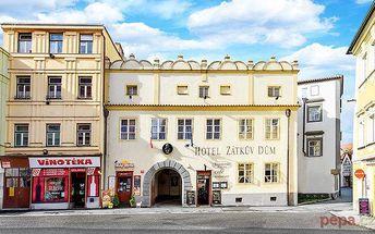 3–5denní pobyt pro 2 osoby v historickém centru Českých Budějovic v hotelu Zátkův Dům