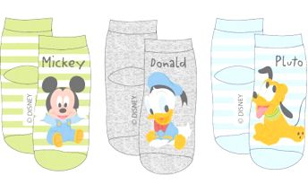 E plus M Chlapecký set ponožek Mickey Mouse a kamarádi, 3 ks, 86-92