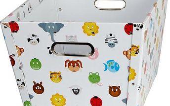 Úložný box Store !t s kolečky a zvířátky