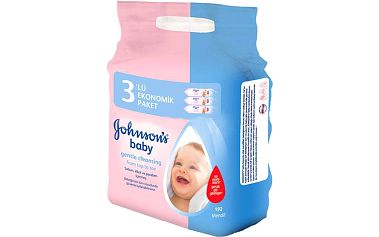 Johnson's Baby Wipes Gentle Cleansing 3x56 ks